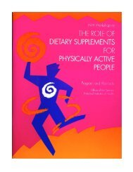 Workshop on the Role of Dietary Supplements for Physically Active ...