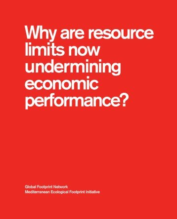 Why are resource limits now undermining economic performance?