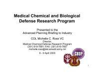 Medical Chemical and Biological Defense Research Program