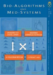 BIO-ALGORITHMS AND MED-SYSTEMS - BAMS