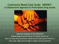 Community-Based Case Study: MEDNET