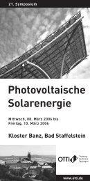 Photovoltaische Solarenergie - FEN Free-Net Erlangen - Nürnberg