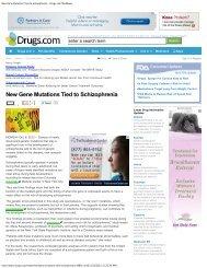 New Gene Mutations Tied to Schizophrenia - Drugs.com MedNews