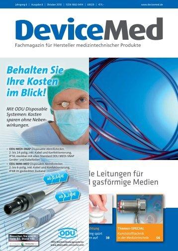 ODU Steckverbindungssysteme – vielfältige ... - DeviceMed.de