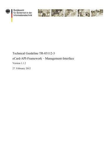 1 Overview of the eCard-API-Framework - Bundesamt für Sicherheit ...