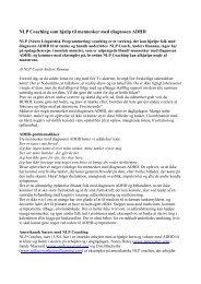 NLP Coaching af ADHD ramte - Alt Om ADHD