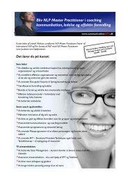 Bliv NLP Master Practitioner i coaching kommunikation, ledelse og ...