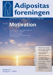 TEMA Motivation - Adipositas Foreningen