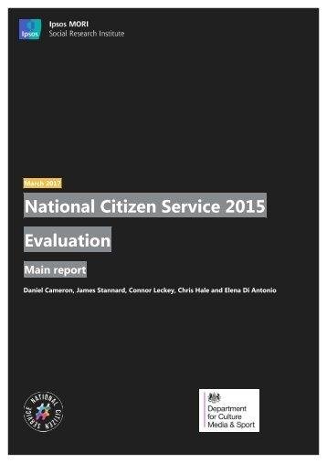 National Citizen Service 2015 Evaluation