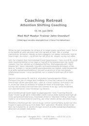 Coaching Retreat - Axept Coaching