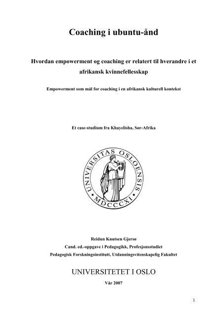Kapittel 7. Funn - Duo - Universitetet i Oslo