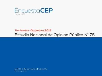 Estudio Nacional de Opinión Pública N° 78