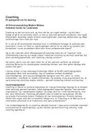 Coaching - Matzau Erhvervspsykologer