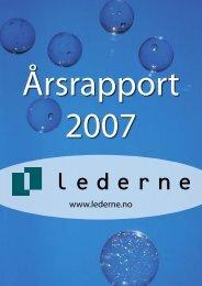 Årsrapport 2007 - Lederne