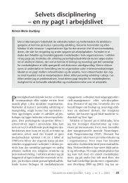 Selvets disciplinering – en ny pagt i arbejdslivet - Nyt om Arbejdsliv