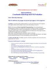 Coachande ledarskap med NLP-tekniker - Carpe Diem Utbildningar
