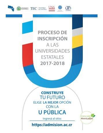 A LAS UNIVERSIDADES ESTATALES 2017-2018