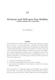 13 På kursus med NLP-guru Tony Robbins