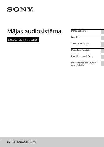Sony CMT-SBT300WB - CMT-SBT300WB Mode d'emploi Letton