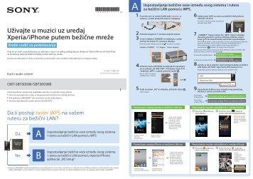 Sony CMT-SBT300WB - CMT-SBT300WB Guide de mise en route Serbe