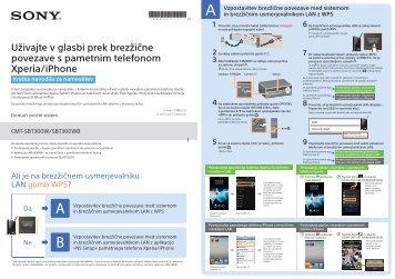 Sony CMT-SBT300WB - CMT-SBT300WB Guide de mise en route Slovénien