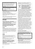 Sony XAV-W650BT - XAV-W650BT Istruzioni per l'uso Ceco - Page 2