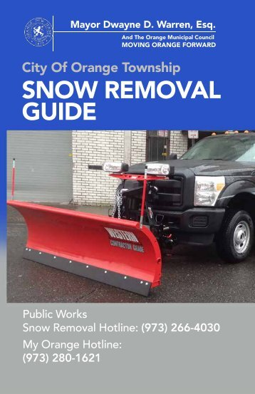 SNOW REMOVAL GUIDE