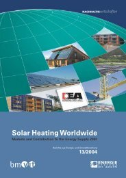 Solar Heating Worldwide Markets and Contribution to the Energy ...