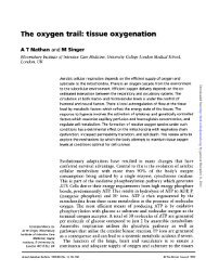 The oxygen trail: tissue oxygenation - British Medical Bulletin
