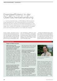 Energieeffizienz in der Oberflächenbehandlung