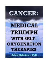 Cancer: Medical Triumph With Self-Oxygenation Therapies