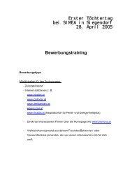Bewerbungstraining - Siemens Österreich
