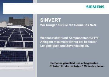 SINVERT PVM - Siemens Österreich