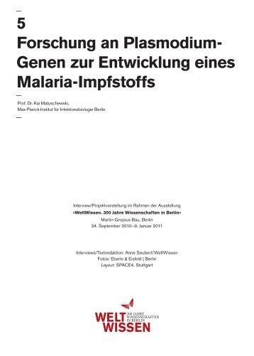 Genen zur Entwicklung eines Malaria-Impfstoffs - WELTWISSEN ...