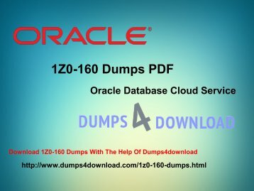 How To Prepare 1Z0-160 Exam - Dumps4Download
