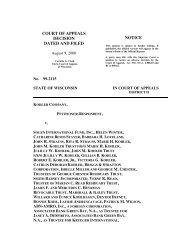 Kohler Company v. Sogen International Fund, Inc. - Wisconsin Court ...