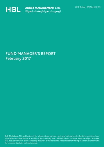 FUND MANAGER'S REPORT February 2017