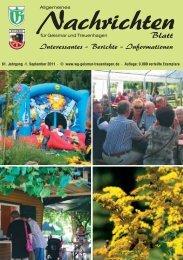 Nachrichtenblatt September 2011 - Werbegemeinschaft Geismar ...