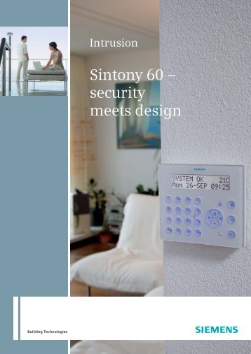 Sintony 60 – security meets design