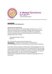 9. WIENER TÖCHTERTAG - Siemens Österreich