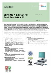 ESPRIMO™ E Green PC Small Formfaktor PC -  addco-rechner.de