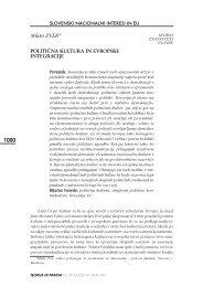 SLOVENSKI NACIONALNI INTERESI IN EU Milan ZVER ...