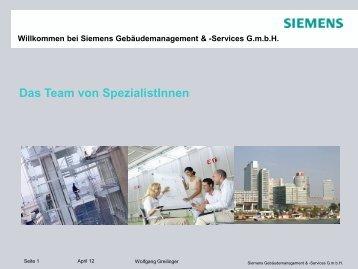 Technisches Facility Management - Siemens Österreich