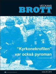 """""""Kyrkonekrofilen"""" var också pyroman - Svenska Polisidrottsförlaget AB"""