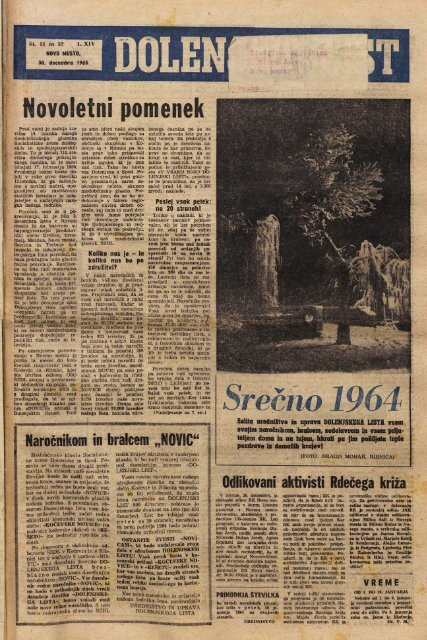 30. december 1963 (št. 717-718) - Dolenjski list