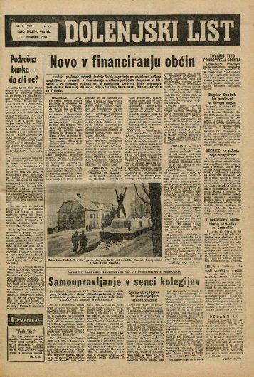 11. februar 1965 (št. 777) - Dolenjski list