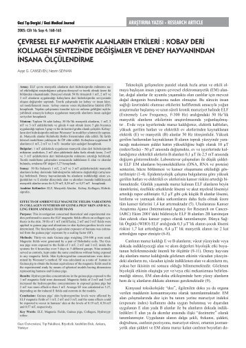 Full Text (PDF) - Gazi Medical Journal