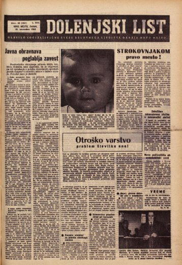 15. november 1962 (št. 660) - Dolenjski list