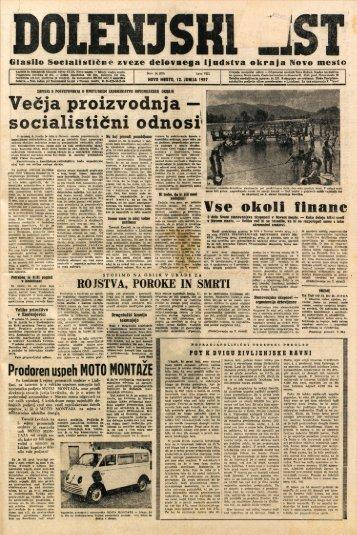 12. junij 1957 (št. 0379) - Dolenjski list