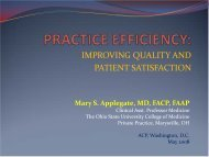 PRACTICE EFFICIENCY: - American College of Physicians